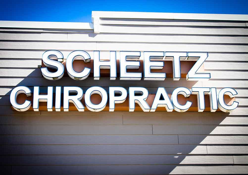 Chiropractic Monee IL Scheetz Chiropractic Sign